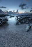 Mystical Rocks, Towan Head, Fistral, Newquay, Cornwall. Mystical Rocks, Towan Head beach, Fistral, Newquay, on the rugged North Cornwall coast stock photo