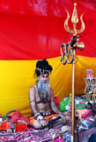 A mystical sadhu in great kumbh mela 2016, Ujjain India Royalty Free Stock Image