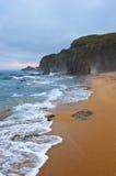 Mystical Sea coast after the typhoon. Stock Photos