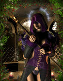 Mystical Sorceress with a Halo Stock Photography
