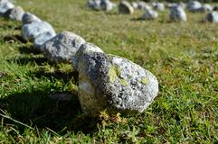 Mystical stones, circle Royalty Free Stock Photo