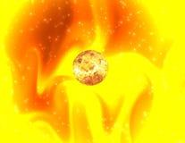 Mystical sunlight. Solar background vector illustration