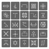 Mystical symbols and sacred signs icons Stock Photo