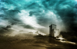 Mystical tower Stock Images