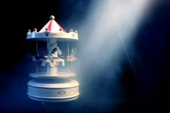 Mystical toy carousel Royalty Free Stock Photo