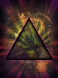 Mystical Triangle Against Deep Space Background royalty free illustration