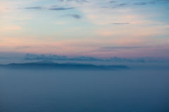 Mystical view on the Dolomites Royalty Free Stock Image