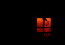 The mystical window at night Stock Images