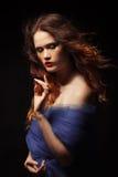 Mystical woman, studio shot royalty free stock image