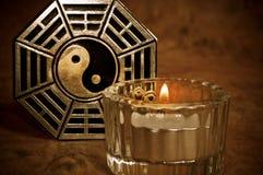 Mystical yin yang Stock Photo