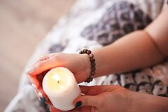 Free Mysticism In Everyday Life. Esoteric In A Magic Candle Close-up And Copy Space. Fortune Telling By A Candle. Royalty Free Stock Image - 171762566