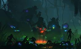 Mystics do Goblin ilustração royalty free