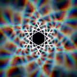 Mysticus glanzende ster met aberraties Stock Fotografie