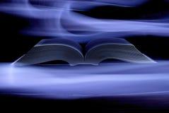 Mystiek boek in het licht Royalty-vrije Stock Fotografie