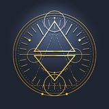 Mystiek geheim symbool vector illustratie