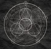 Mystiek geheim symbool stock foto's