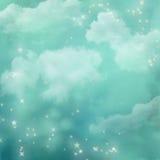 Mystieke blauwe abstracte achtergrond. Stock Foto's
