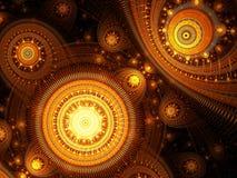 Mystieke fractal achtergrond - abstract digitaal geproduceerd beeld Royalty-vrije Stock Foto's
