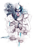 Mystieke ridder Stock Afbeeldingen