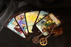 Mystieke tarotkaarten, Stock Afbeelding