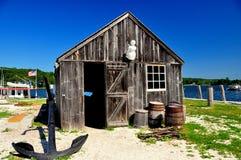 Mystiker, CT: Clam Shack am mystischen Seehafen lizenzfreies stockfoto