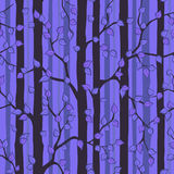 Mystiker Forest Seamless Pattern vektor illustrationer