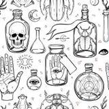 Mystiker, Magie, Hintergrund Religion und der Okkultismus mit esote vektor abbildung