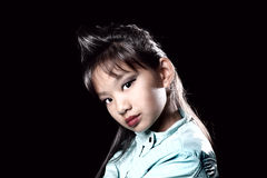 Mystique asiatique avec la coiffure à la mode Photos stock