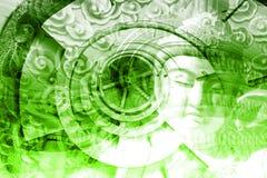 Mystische Asien-Montage Lizenzfreies Stockfoto