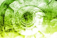 Mystische Asien-Montage Lizenzfreies Stockbild
