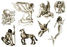Mystische Geschöpfe 1 lizenzfreie abbildung