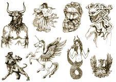 Mystische Geschöpfe 2 stock abbildung