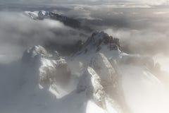 Mystische Gipfel - Vogelperspektive stockbilder
