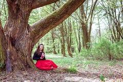 Mystische Hexenfrau Lizenzfreie Stockfotos