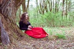 Mystische Hexenfrau Stockfotografie