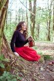 Mystische Hexenfrau Lizenzfreie Stockbilder
