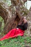 Mystische Hexenfrau Lizenzfreies Stockbild