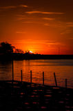 Mystische Sonnenuntergang-Bucht Lizenzfreies Stockbild
