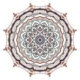 Mystische stachelige Mandala der Vektorzusammenfassung auf einem weißen Hintergrund stock abbildung