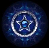 Mystischer blauer Stern lizenzfreie abbildung