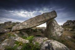 Mystischer Dolmen stockbild