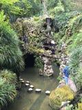 Mystischer Garten innerhalb Royal Palaces von Sintra in Portugal Lizenzfreies Stockbild