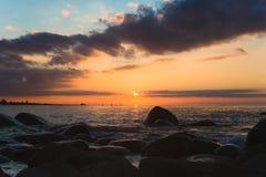 Mystischer Sonnenuntergang Stockbild