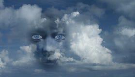 Mystisches Gesicht stockbild