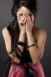 Mystisk asiatisk kvinna Fotografering för Bildbyråer