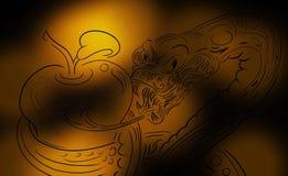 Mystisk bakgrundsorm vektor illustrationer