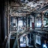 Mystisk byggnad efter brand Royaltyfri Bild