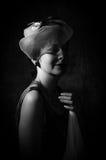 Mystisk dam Fotografering för Bildbyråer
