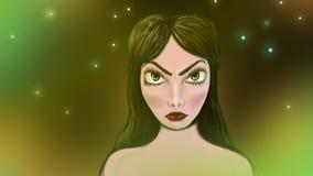 mystisk flicka Arkivfoton