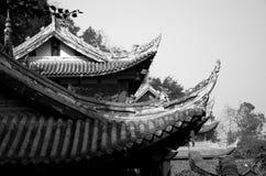 Mystisk forntida kinesisk arkitektur Royaltyfria Bilder